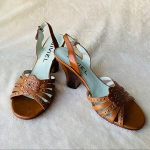*NEW* BIVIEL   Anthropologie Leather Studded Pumps